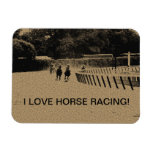 Horse Racing Muddy Track Grunge Rectangle Magnet