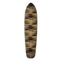 Horse Racing Muddy Track Grunge Skateboard