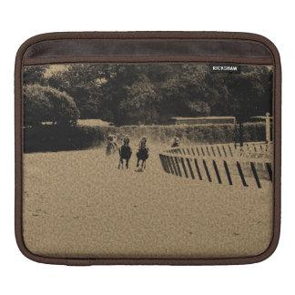 Horse Racing Muddy Track Grunge Sleeve For iPads