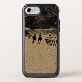 Horse Racing Muddy Track Grunge Speck iPhone Case