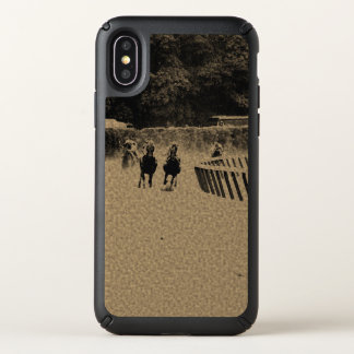 Horse Racing Muddy Track Grunge Speck iPhone X Case