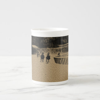 Horse Racing Muddy Track Grunge Tea Cup