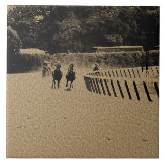 Horse Racing Muddy Track Grunge Tile