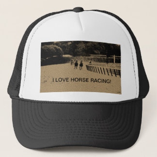 Horse Racing Muddy Track Grunge Trucker Hat