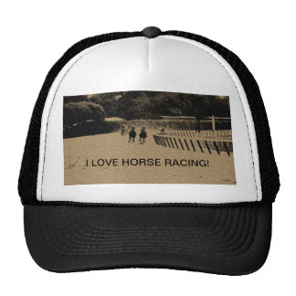 Horse Racing Muddy Track Grunge Trucker Hat