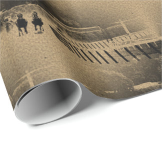 Horse Racing Muddy Track Grunge Wrapping Paper