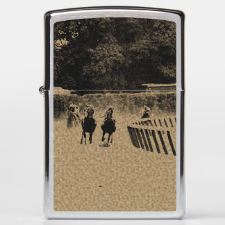 Horse Racing Muddy Track Grunge Zippo Lighter