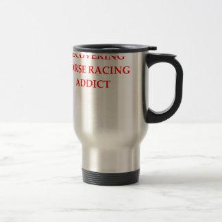 horse racing 15 oz stainless steel travel mug