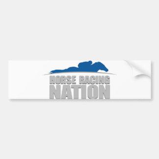 Horse Racing Nation bumper sticker Car Bumper Sticker