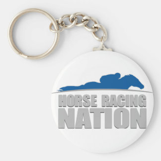 Horse Racing Nation Keychain