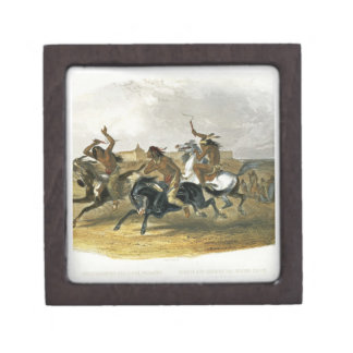 Horse Racing of Sioux Indians near Fort Pierre, pl Gift Box
