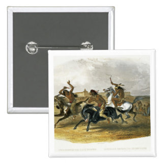 Horse Racing of Sioux Indians near Fort Pierre, pl Pinback Button
