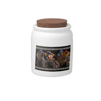 Horse Racing on Film Strip Candy Jar