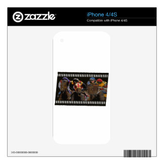 Horse Racing on Film Strip Decals For The iPhone 4S