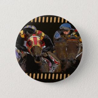 Horse Racing on Film Strip Pinback Button