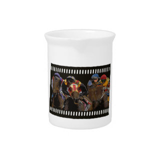 Horse Racing on Film Strip Pitcher