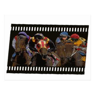 Horse Racing on Film Strip Postcard