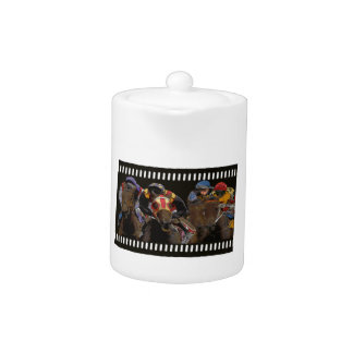 Horse Racing on Film Strip Teapot