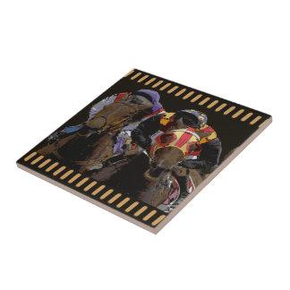 Horse Racing on Film Strip Tile