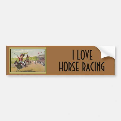 Horse Racing on Thread Spools Bumper Stickers