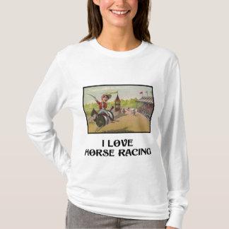 Horse Racing on Thread Spools T-Shirt