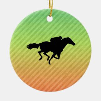 Horse Racing Christmas Tree Ornament