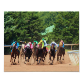 Horse Racing Pack Painting Poster
