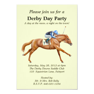 Horse Racing Party Invitation