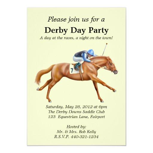 "Horse Racing Party Invitation 5"" X 7"" Invitation Card"