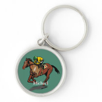 Horse Racing Personalised Keychain