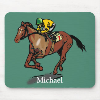Horse Racing Personalised Mouse Pad