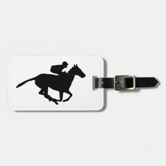 Horse Racing Pictogram Bag Tag