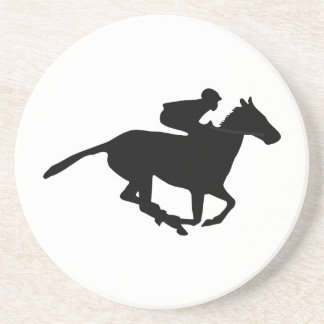 Horse Racing Pictogram Beverage Coasters
