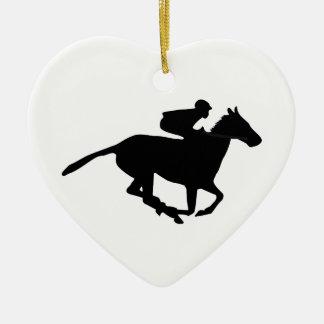 Horse Racing Pictogram Ceramic Ornament
