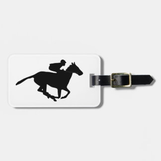 Horse Racing Pictogram Tag For Luggage