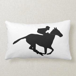 Horse Racing Pictogram Lumbar Pillow