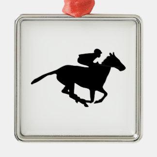 Horse Racing Pictogram Metal Ornament