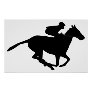 Horse Racing Pictogram Poster