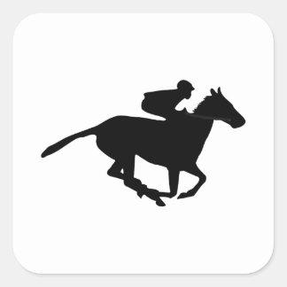 Horse Racing Pictogram Square Sticker