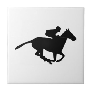 Horse Racing Pictogram Ceramic Tile