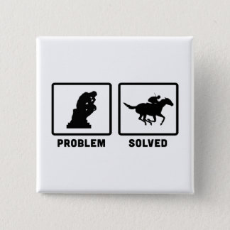Horse Racing Pinback Button