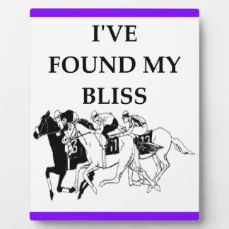 horse racing plaque