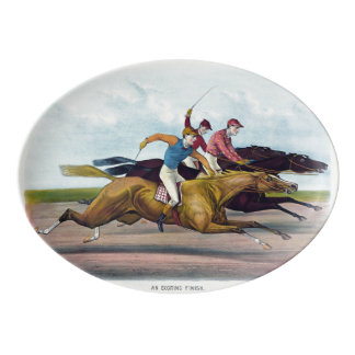 Horse racing platter for the collector