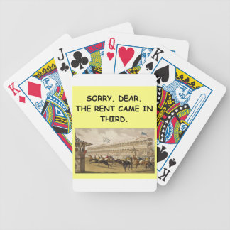 horse racing bicycle poker cards