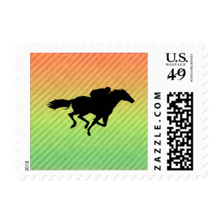 Horse Racing Stamp