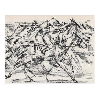 Horse racing postcards