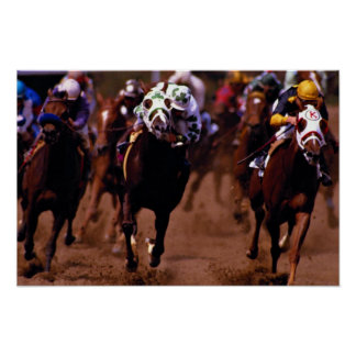 Horse racing poster