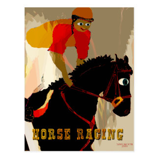 horse racing products postcard