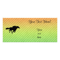 Horse Racing Rack Card