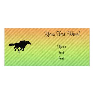 Horse Racing Rack Card